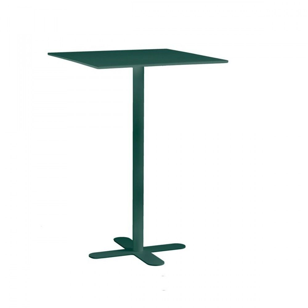 Table haute de jardin design San Mateo 80x80 blanche | Table haute ...