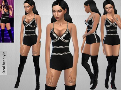 Sims 4 CC's - The Best: Bodysuit by Puresims