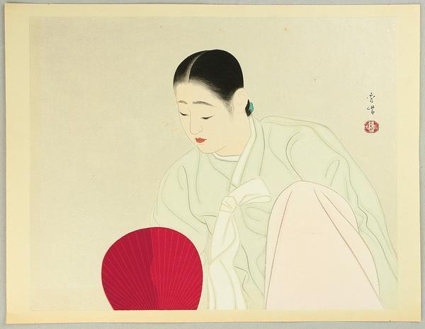 山川秀峰 YAMAKAWA, Shuho (1898-1944) Korean Beauty