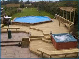 Square Above Ground Pool With Deck Google Search Above Ground Pool Decks Square Above Ground Pool Pool Decks