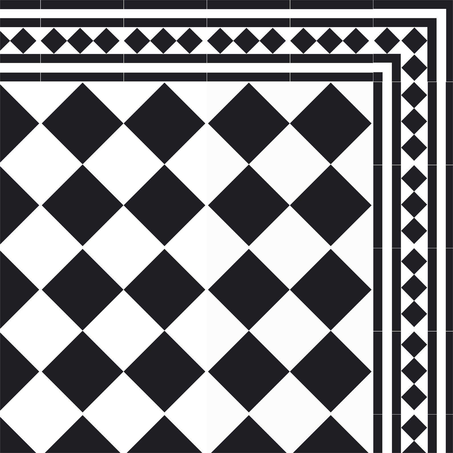 Black White Vinyl Mat Kitchen Mat Geometric Tiles Decor Etsy Kitchen Mat Decorative Tile Custom Size Rugs