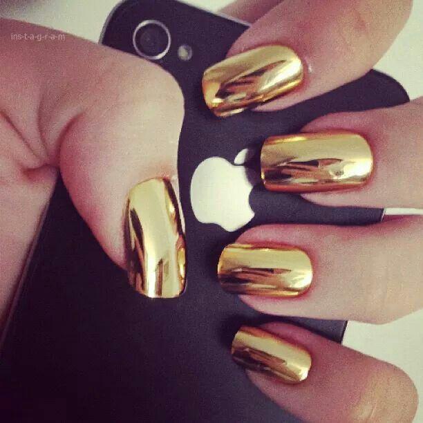.Gold Nails.