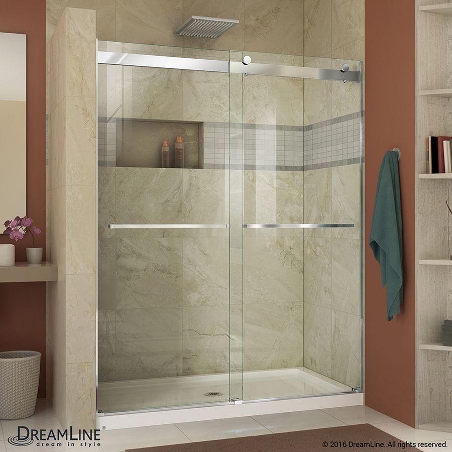 Essence 56 In To 60 In Frameless Chrome Sliding Shower Door