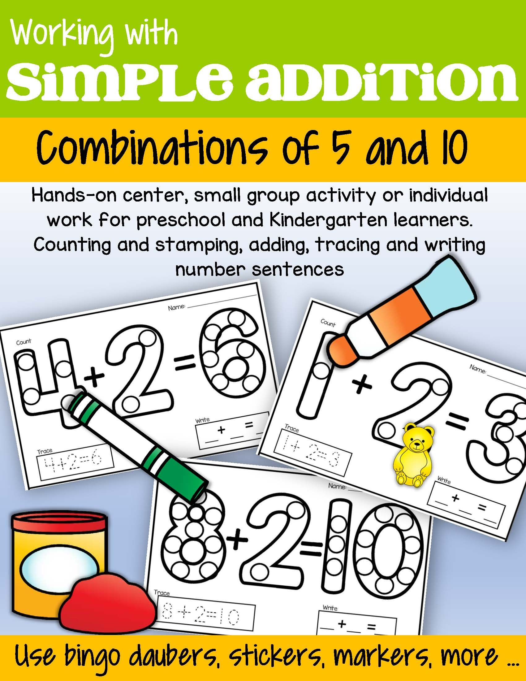Numbers Addition Combinations Of 5 And 10