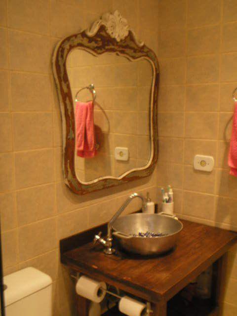 Inspiração para banheiros e lavabos rústicos! Inspiração para - lavabos rusticos