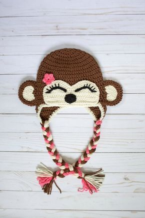 Free Crochet Monkey Hat Pattern Apky Pinterest Crochet
