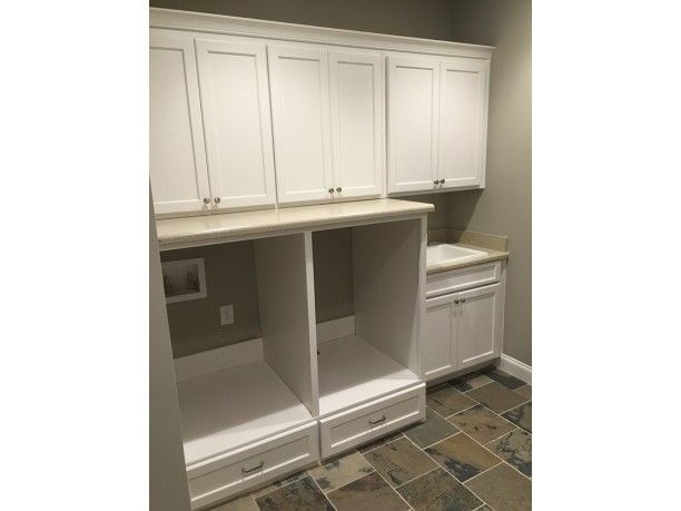 Laundry Room Wall With Sink And Storage Under Washer Dryer. Add Tall  Cabinet Between Wall