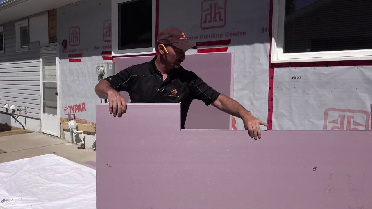 How to install styrofoam insulation on a homes exterior