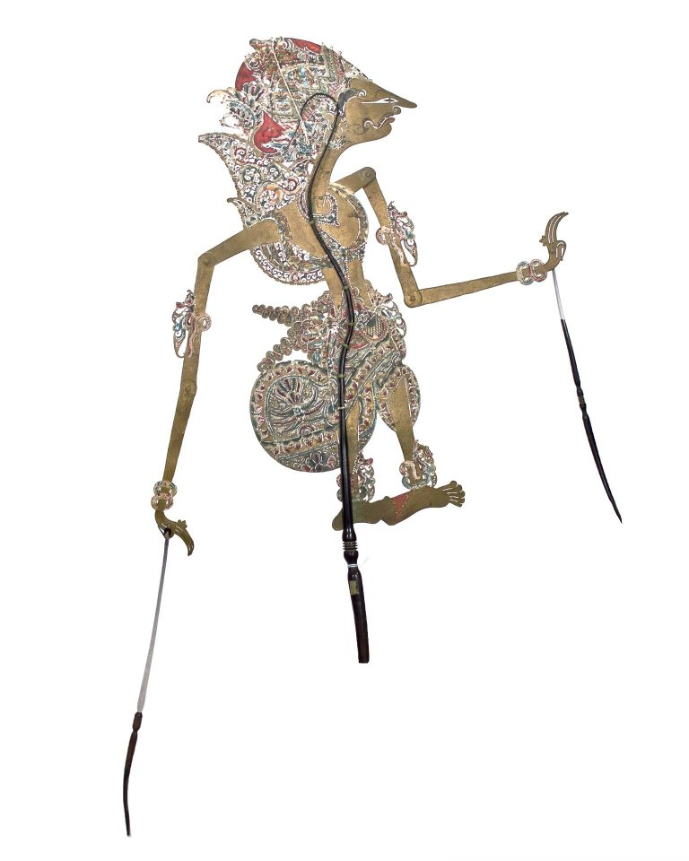Unknown Indonesian Shadow Puppet Wayang Purwa Leather Created In Indonesian Shadow Puppets Shadow Historical Art