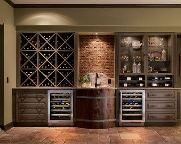 Use Wine Barrel For Outdoor Sink Farmhouse Roofed Patio