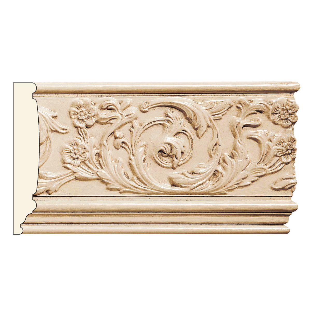 6 3 4 X 13 16 Rinceau Scrolls Repeats 13 5 8 Mt 7 8 White River Moldings And Trim Love Design White River