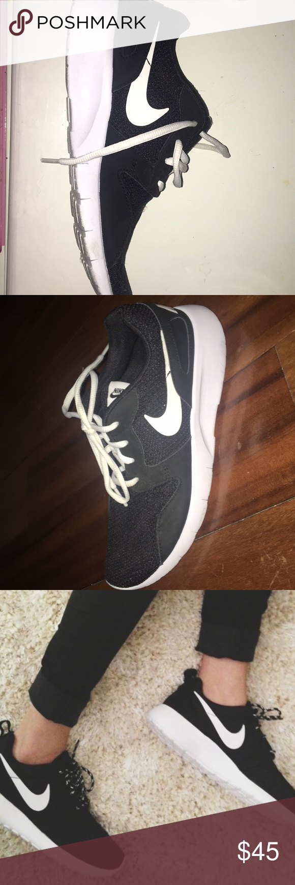 Nike roshes YOU'RE GETTING $30 OFF THE ORIGINAL PRICE !!These shoes are so comfortable , like it's like walking on air.I got these shoes as a gift but I already have them . Also if your a size 8 or 7 you can fit into these , I'm not sure why but I'm a size 8 and I fit into a 7.5 . I guess it's because the material hugs the shape of your feet but les it breathe . Nike Shoes Athletic Shoes