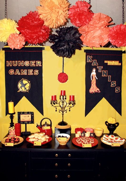 The Hunger Games Dinner Party Decor Ideas The Girl On Fire