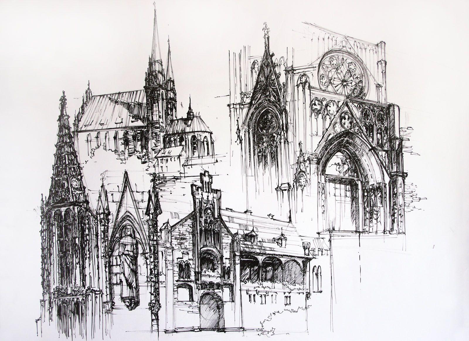 Gothic Architecture By Alphirin On Deviantart Gothic Architecture Drawing Architecture Sketch Architecture Drawing