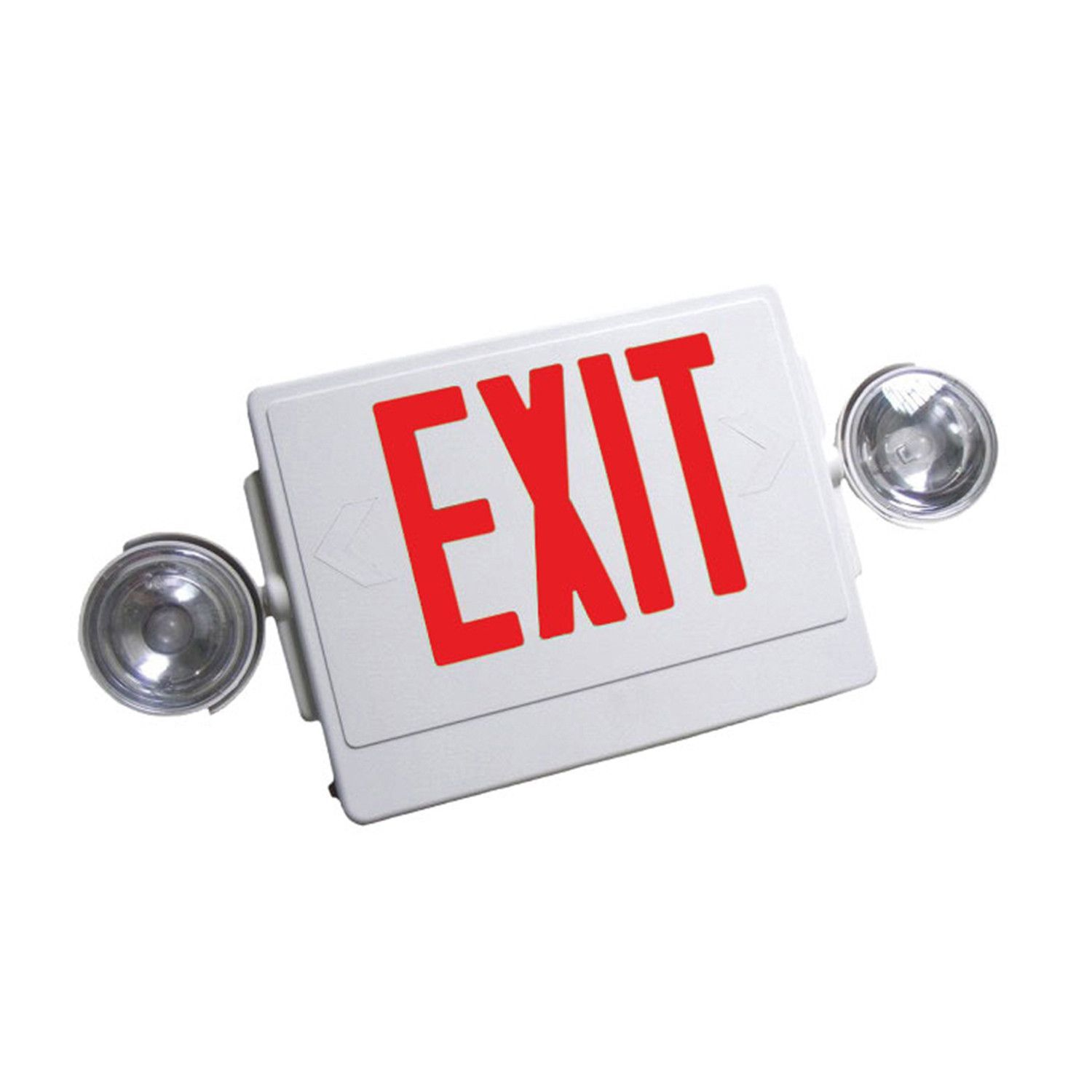 NICOR Remote Capable Emergency LED Exit Sign white w/ red lettering