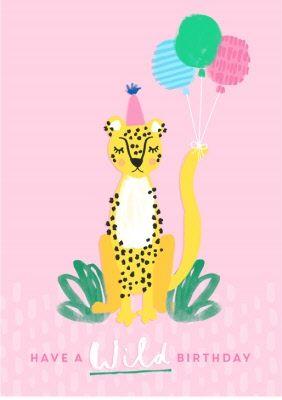 Birthday Card Female Card Animals Wild Standard Size By Moonpig Birthday Illustration Birthday Cards Card Illustration