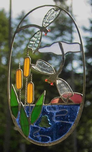 Stained glass suncatcher of a butterfly