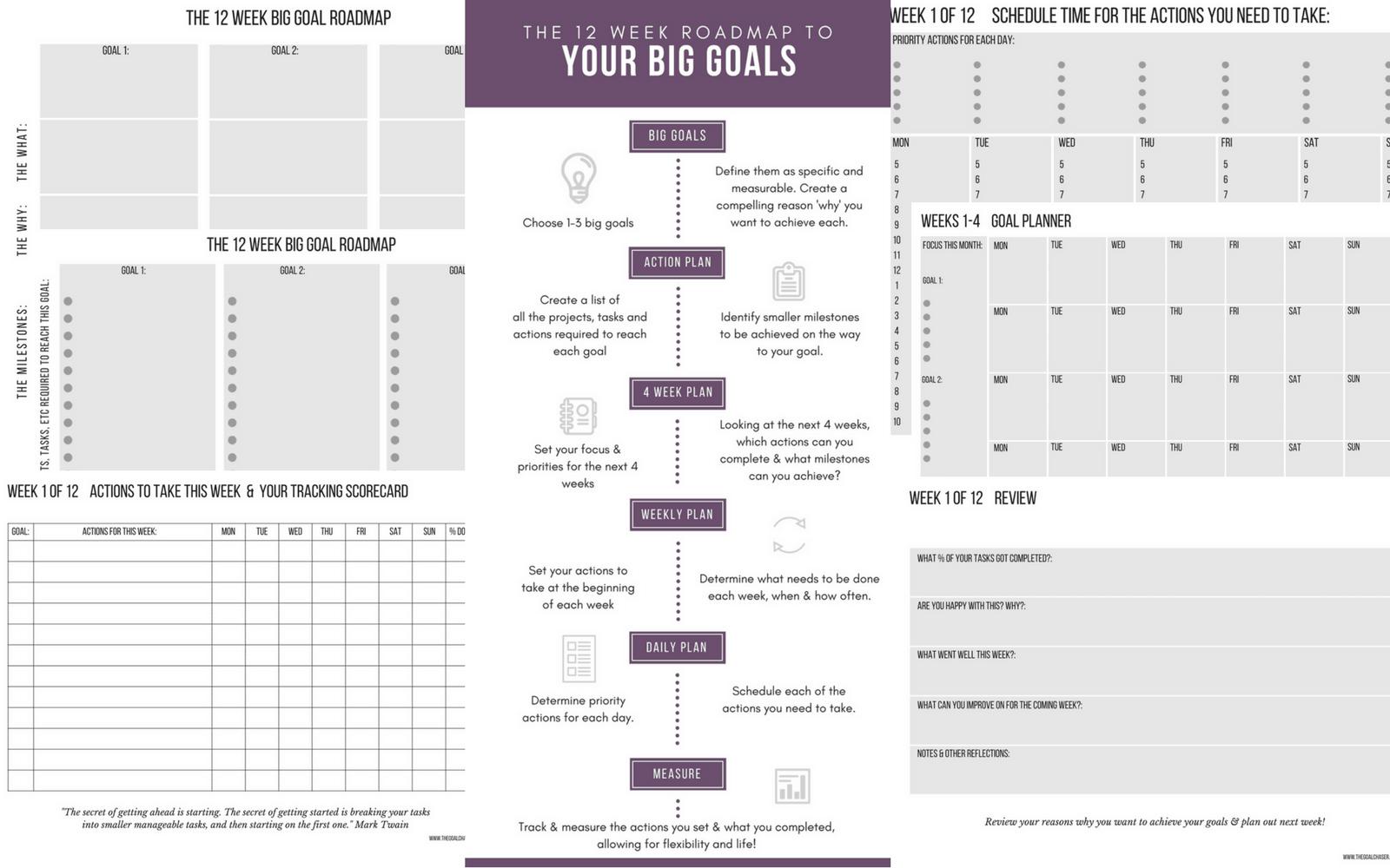 12 Week Goal Setting Worksheet