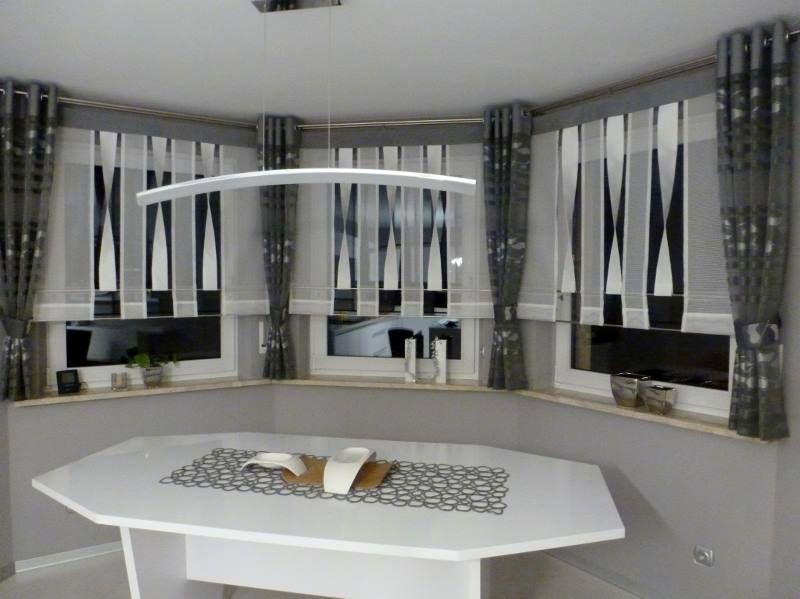1 Gardinen Wohnzimmer, Fensterbänke, Fensterdekorationen