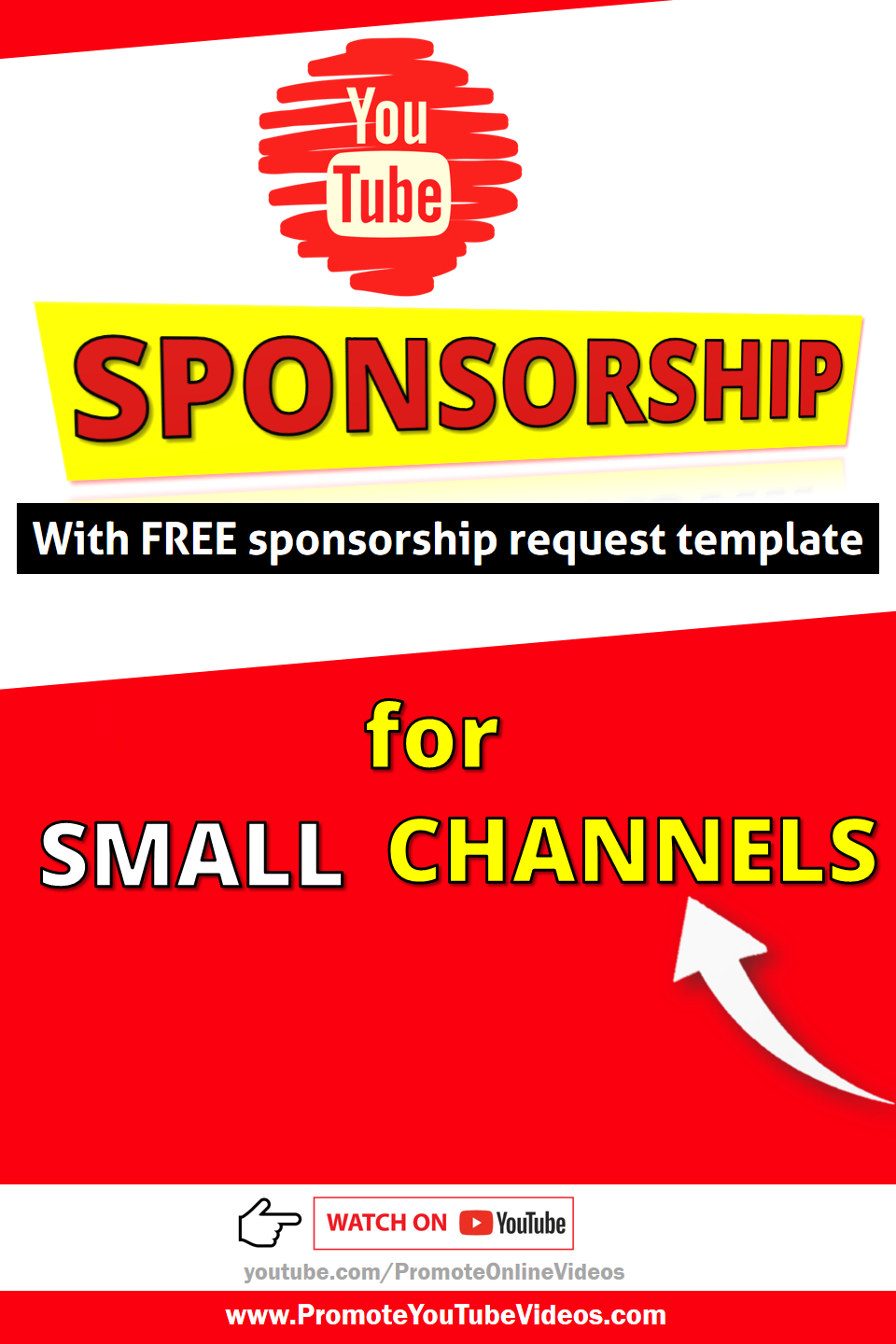 how to get sponsored on YouTube for small channels. Are