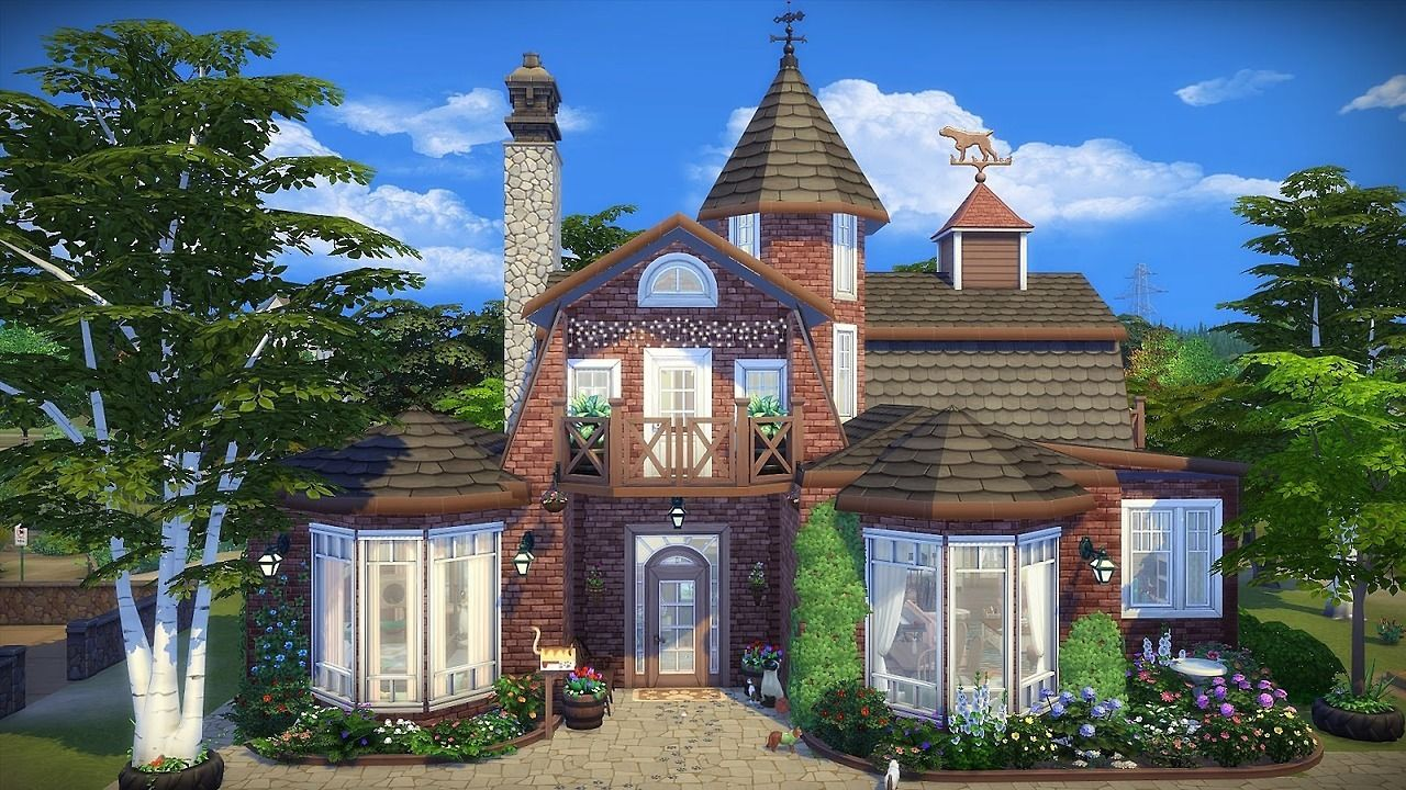 Cats Dogs House By Frau Engel Cottage No Cc Ts4 Lot Sims