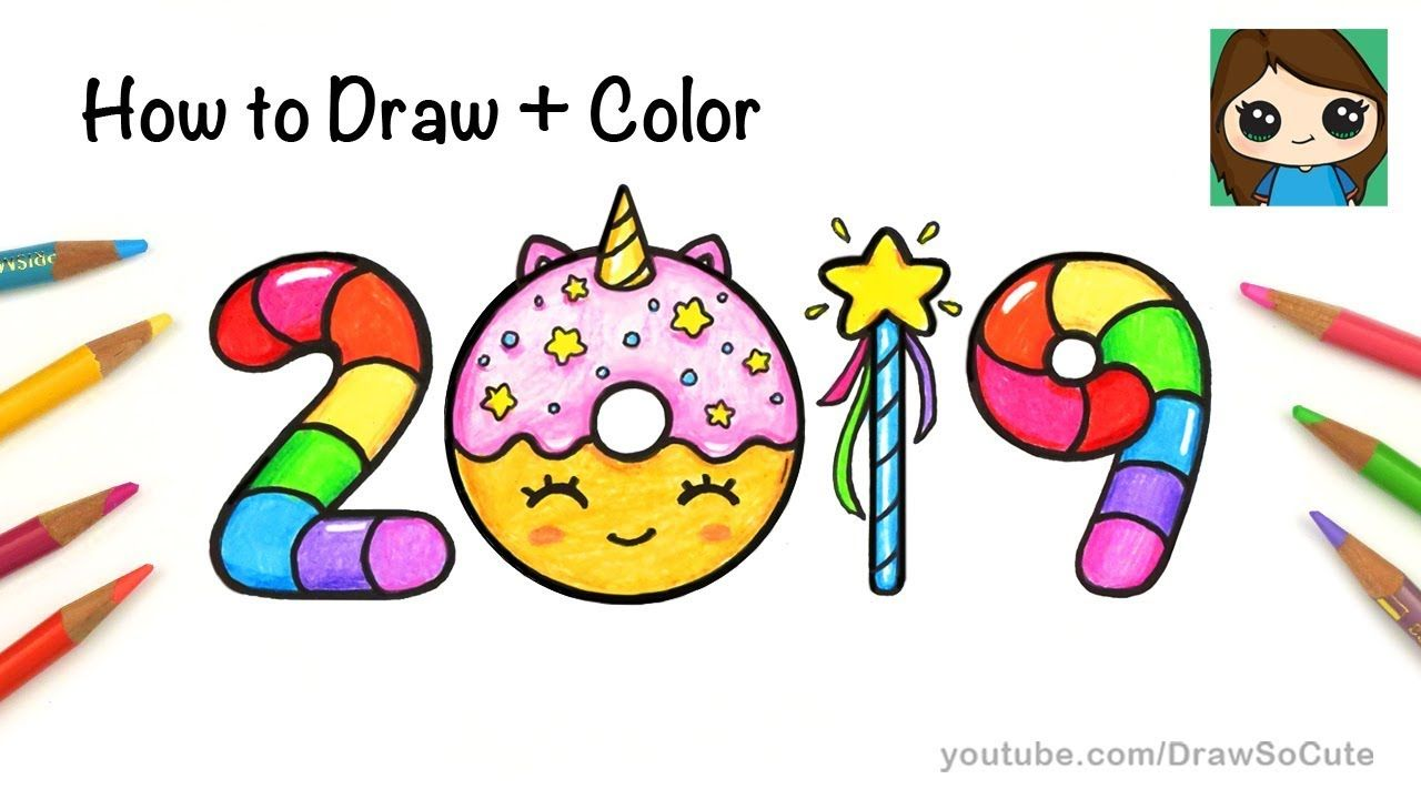 dae6170abc36 How to Draw + Color 2019 Bubble Numbers