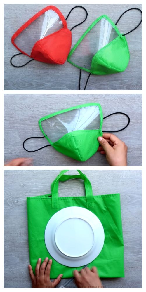 Photo of DIY Fabric Face Mask Using Plate + Video | Fabric Art DIY