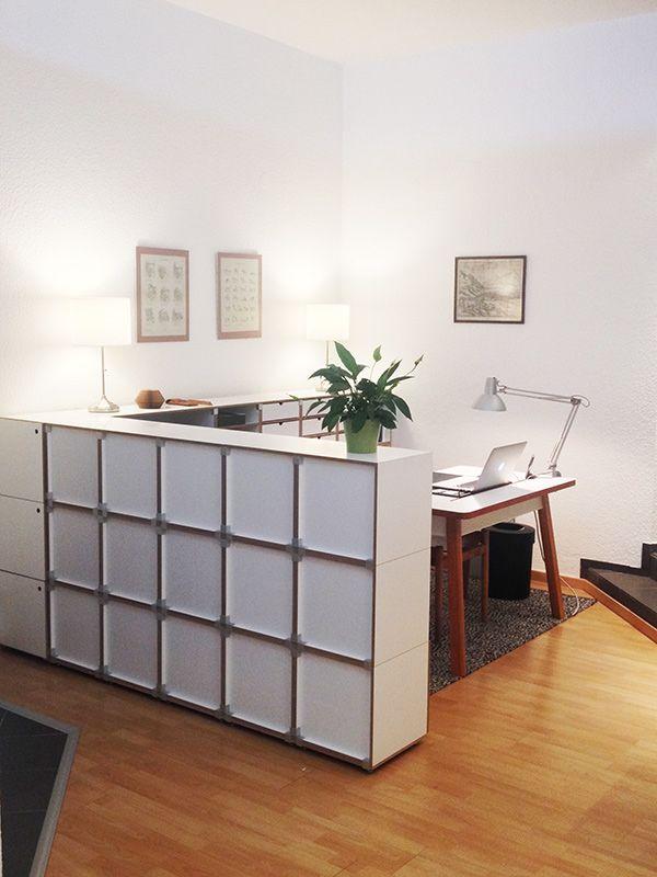Stocubo modulares regalsystem raumteiler stocubo arbeitszimmer pinterest raum - Regalsystem schlafzimmer ...