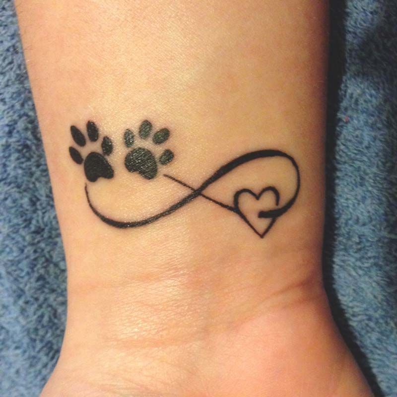 10 Most Beautiful Pet Memorial Tattoos Urns Pawprint Tattoo Infinity Tattoos Small Tattoos