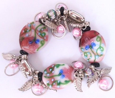 Bracelet, Lampwork Beads and CCB Acrylic Beads