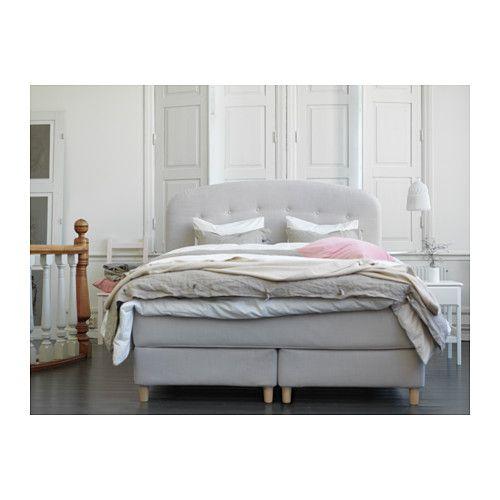 oldervik boxspringbett 180x200 cm hyllestad fest tuss y beige ikea boxspring. Black Bedroom Furniture Sets. Home Design Ideas