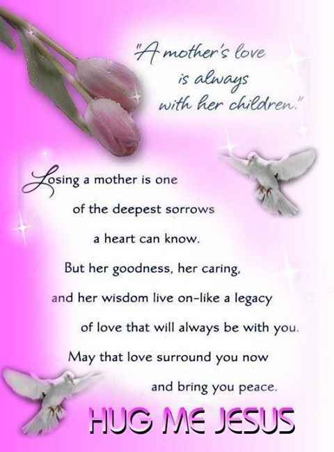 A Mother\'s Love is Always with her Children... death mother grief ...