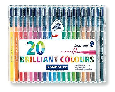 Staedtler Triplus 20x Felt Tip Colouring Pens Ideal for Adult Colouring Books