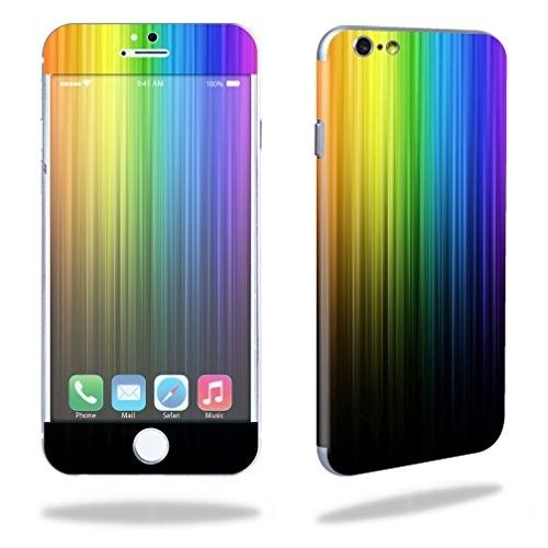 MightySkins Protective Vinyl Skin Decal Cover for Apple iPhone 6/6S Plus 5.5' Cover Sticker Skins Rainbow Streaks