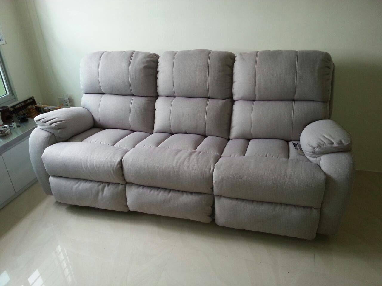 Navinzi Premium Sofa With Recliner Acacia Fabric From Belgium Premium Sofa Sofa Furniture