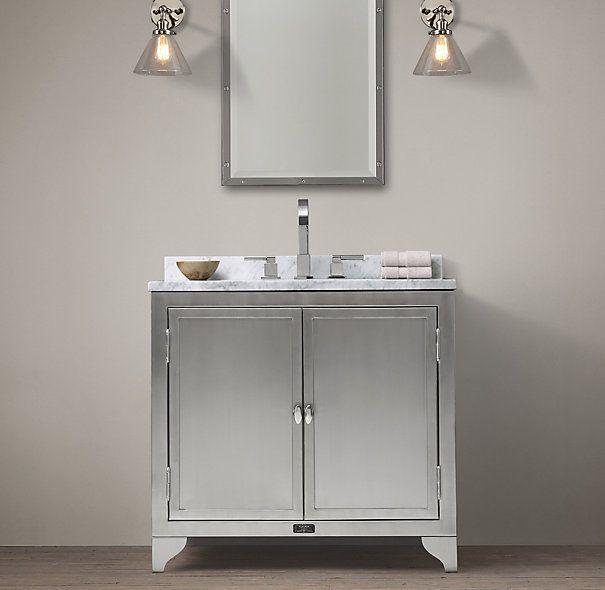 Gallery Website Reproduction us Laboratory Stainless Steel Single Vanity Sink from Restoration Hardware Bathrooms Pinterest Vanity sink Single vanity units and