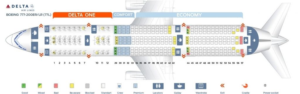 Boeing 777 Seating Plan Dengan Gambar