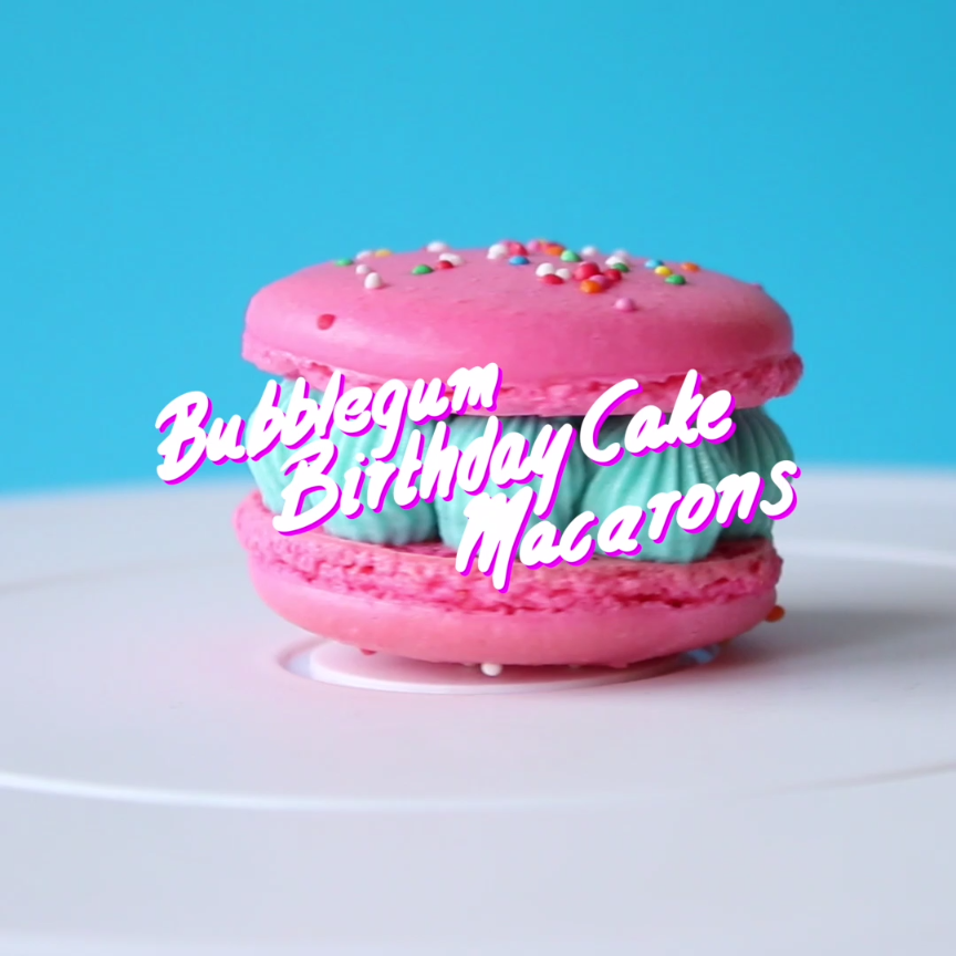 Bubble Gum, Macarons And Frosting