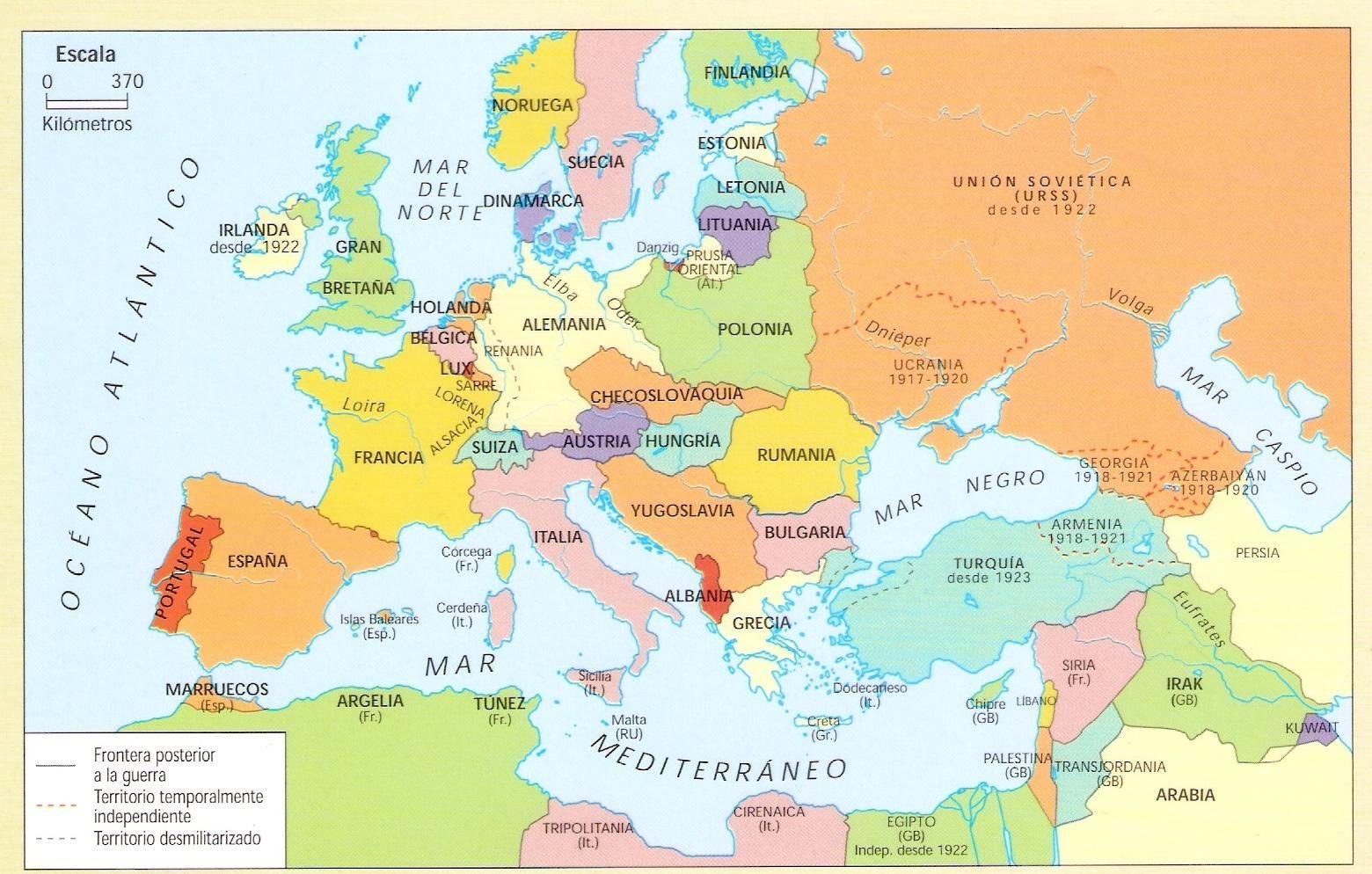 mapa europa y oriente medio  Jornada sobre la Paz  30012016
