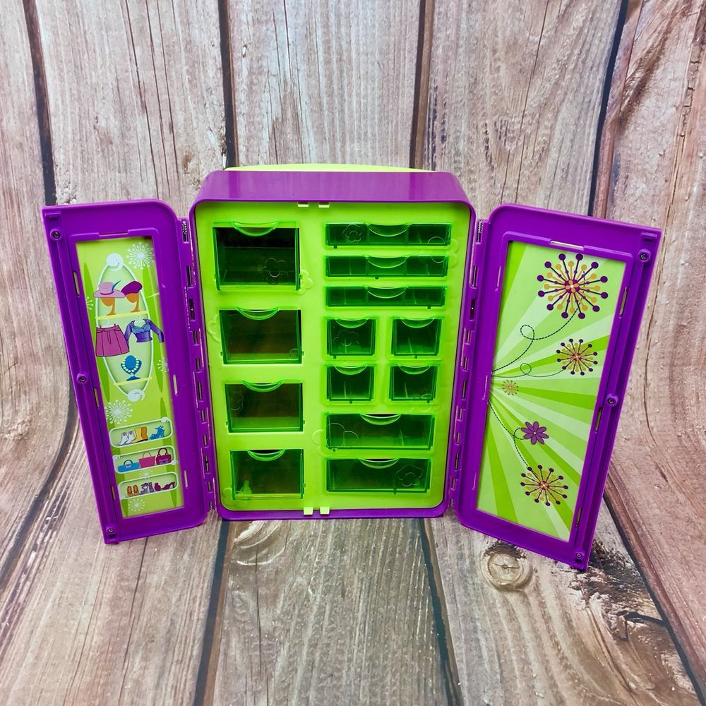 Vintage Polly Pocket Wardrobe pull along travel suit case