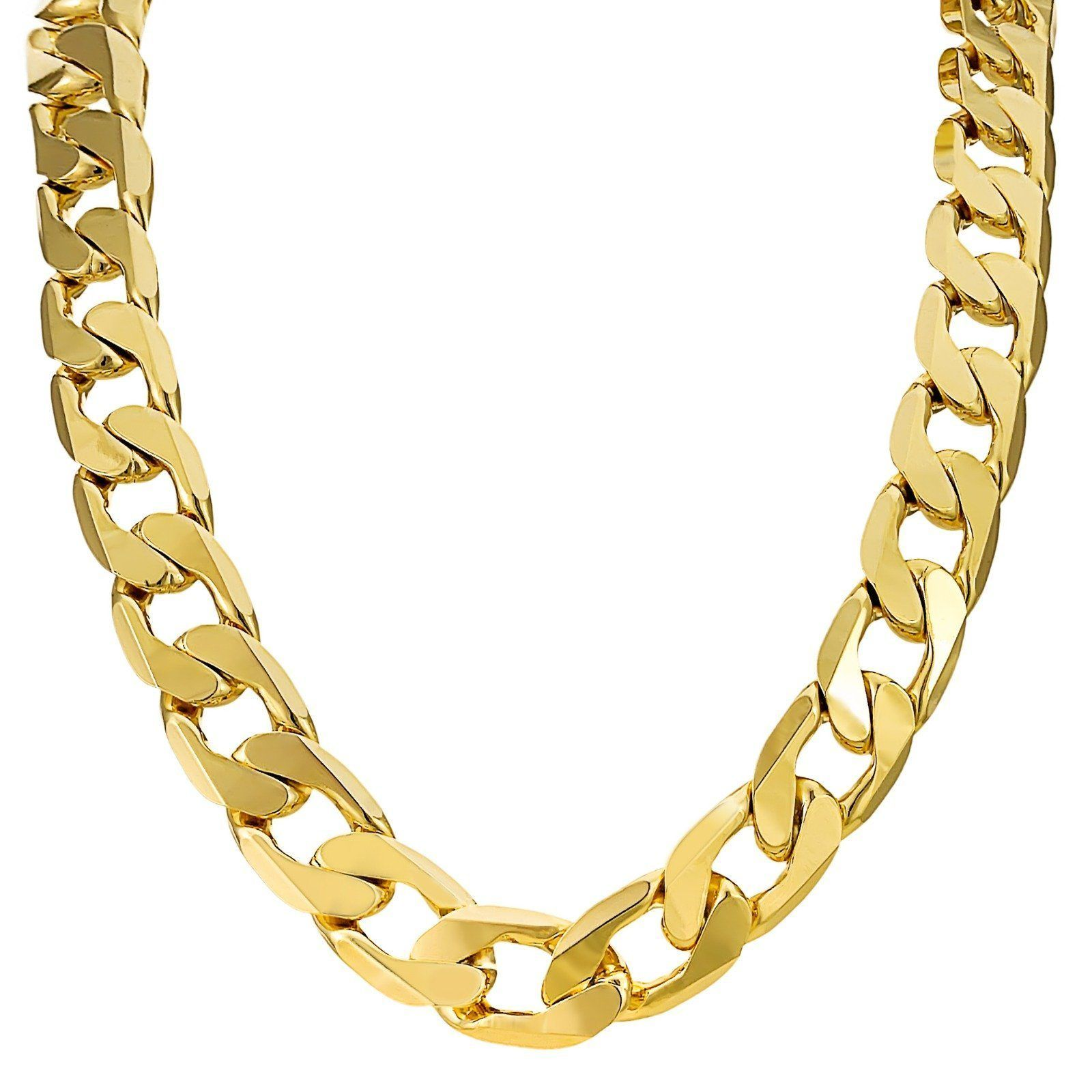 039c728c836 18K Gold Plated 13mm Cuban Chain (Anti Tarnish Technology ...