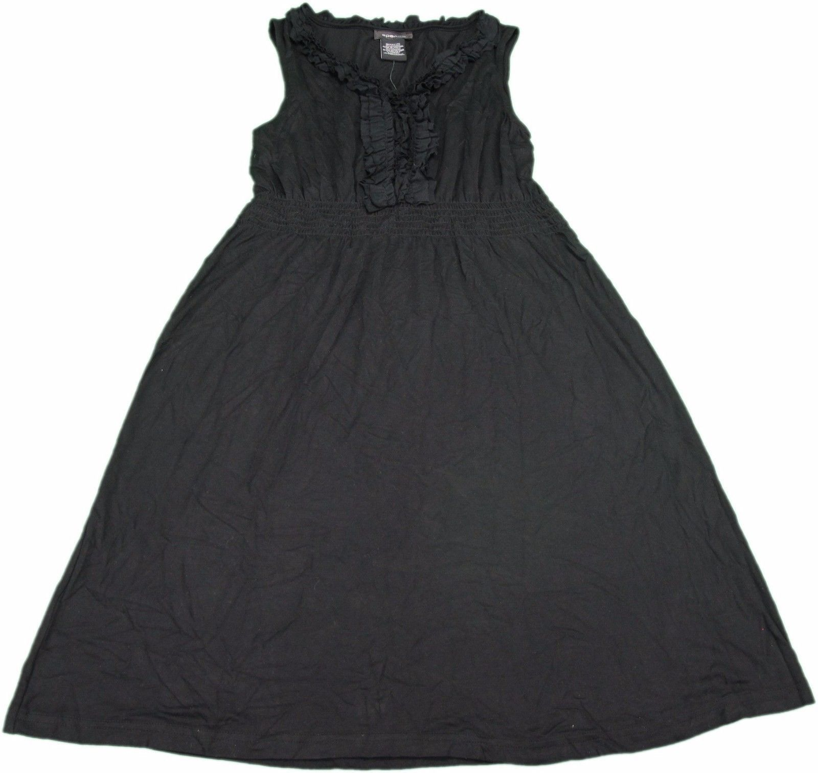 Spense Ladies Size Small Ruffle Collar Sundress, Black