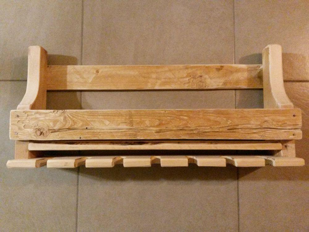 Cantinetta rustica porta bottiglie e porta calici da for Bricolage arredamento