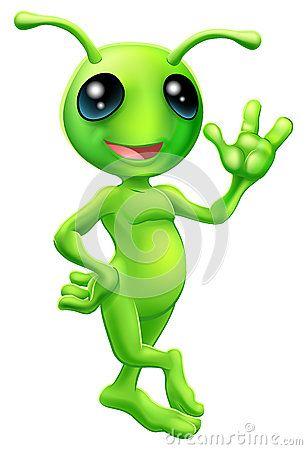 Little green man alien