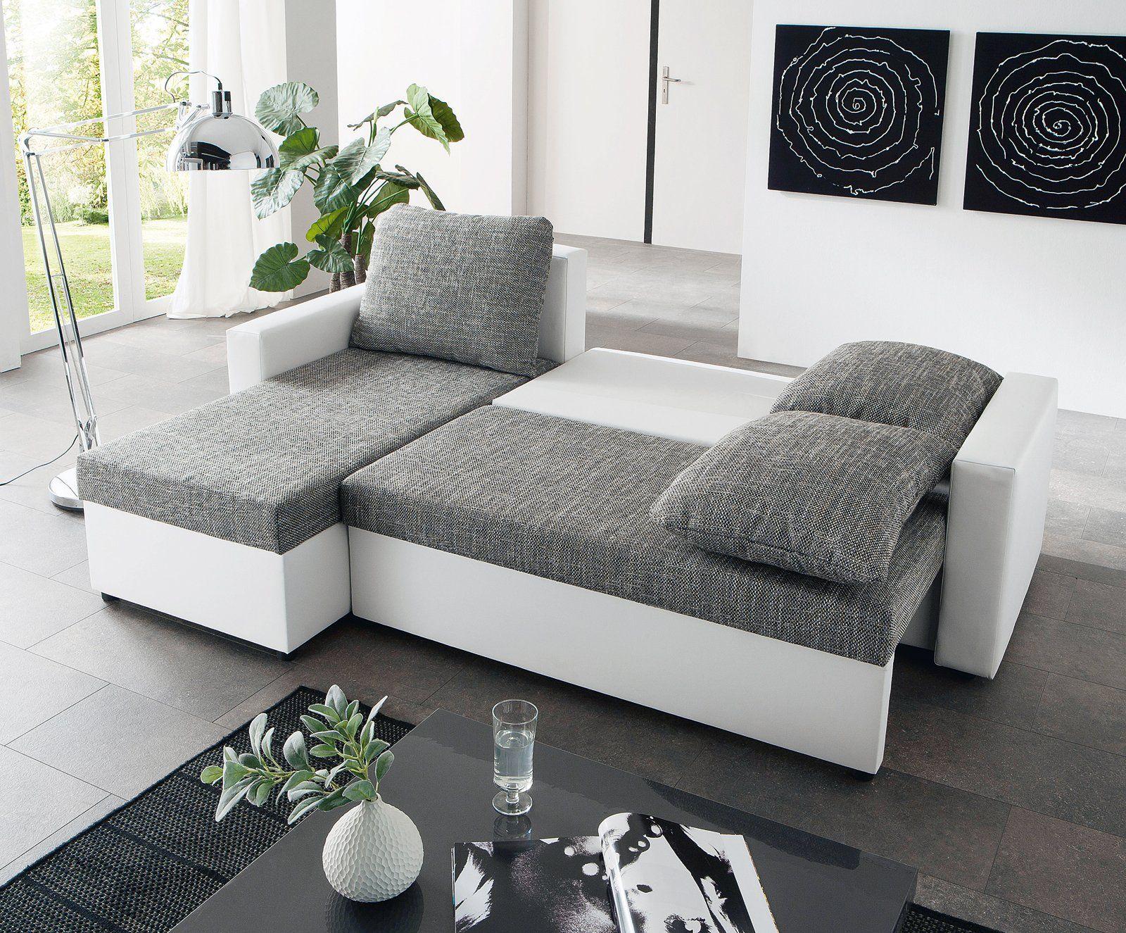 Schau Mal Was Ich Bei Roller Gefunden Habe Ecksofa Weiss Grau Liegefunktion In 2020 Ecksofa Weiss Grau Ecksofa Sofa