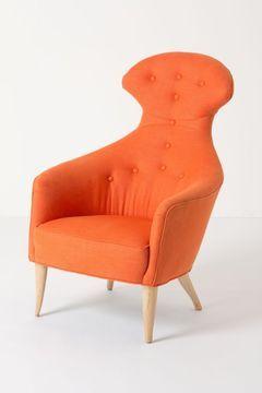 Anthropologie Soren Chair, Soleil Linen #Orange