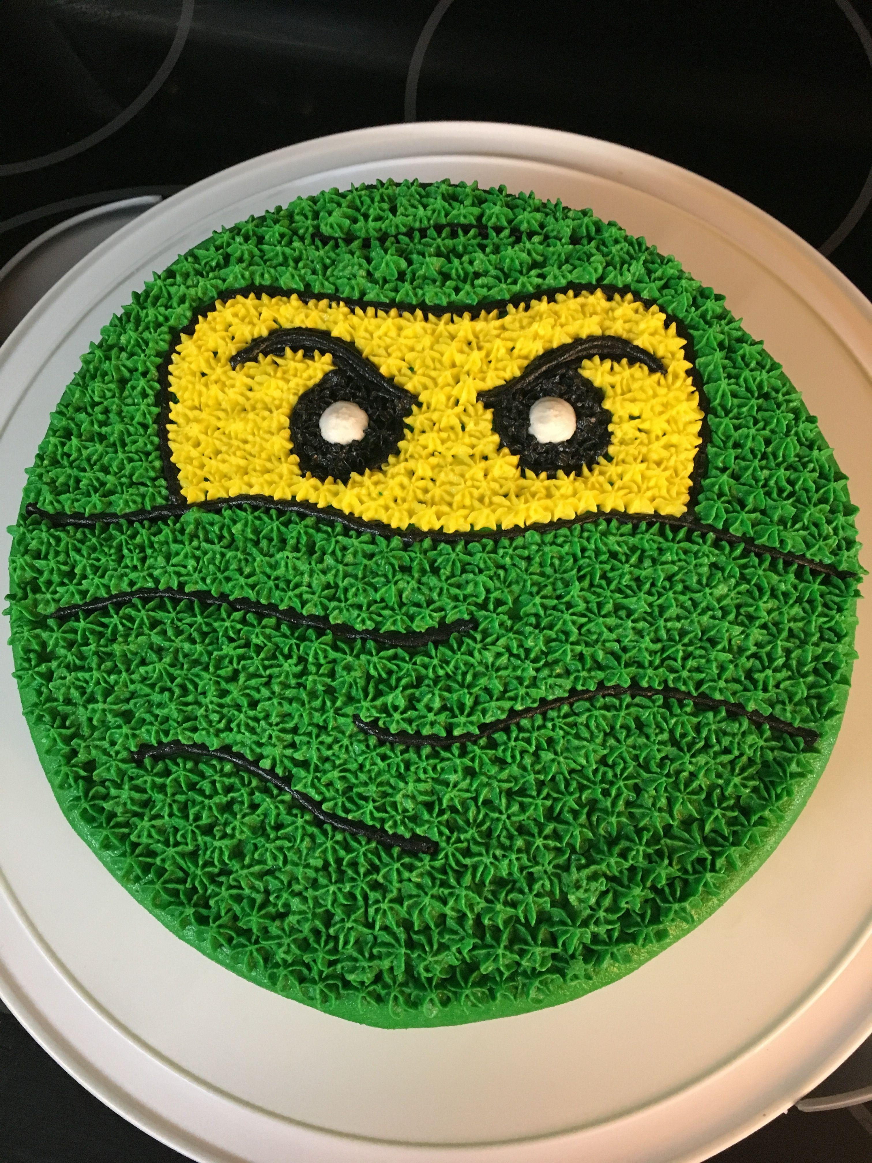 Excellent Green Ninja Ninjago Cake Ninja Birthday Cake Ninja Birthday Funny Birthday Cards Online Alyptdamsfinfo