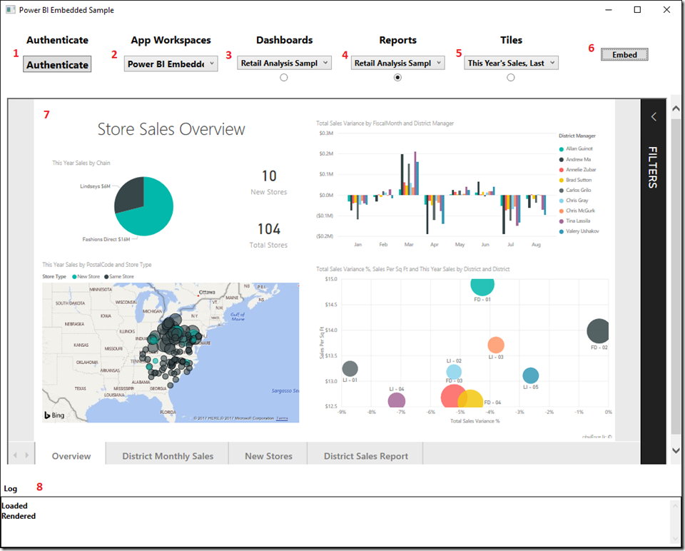 Integrate Power BI Dashboards, Reports and Tiles into a WPF Application