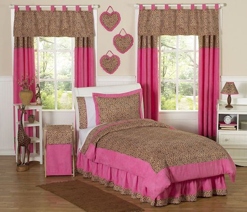 hot pink brown cheetah animal print teen girl bedding full 16678 | 2e1514a43728e014a33ae24a1d05a39c