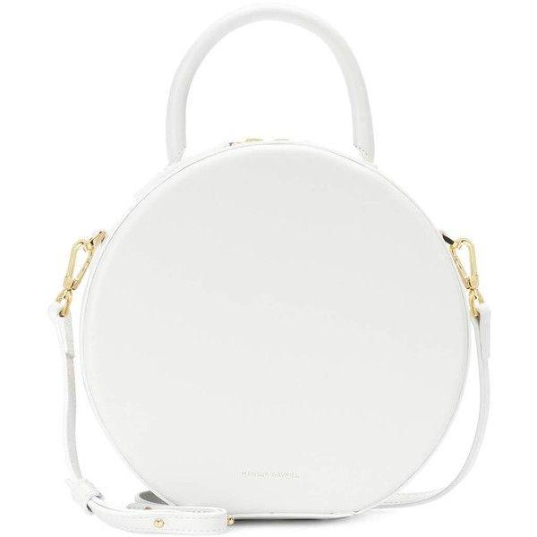 Mansur Gavriel Circle Leather Crossbody Bag 650 Liked On Polyvore Featuring Bags Handbags Shoulder White Purse Handbag